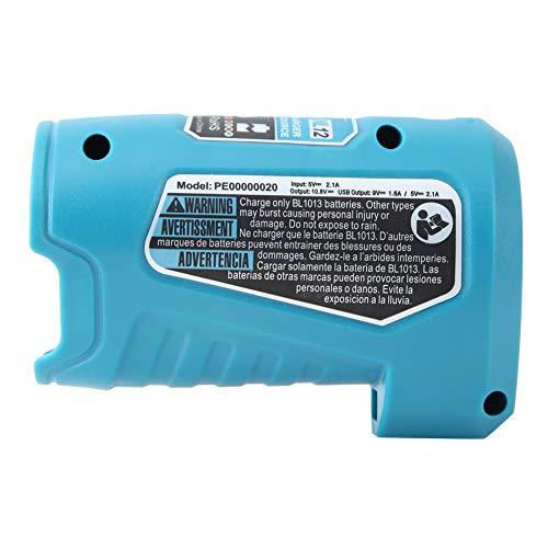Rehomy Base de carga USB para Makita PE0000020 BL1013 BL1020 (azul)