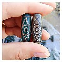 COKILU 1 stück 30mm Vintage grau grünen Stein natürlich Tibetan dzi Agate perlen Buddha schmuck Phoenix Auge Reiki heilende agat perlen for Frauen böse spirituosen Geld Zeichnung wohlwahrer