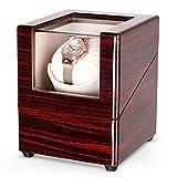 INTEY Uhrenbeweger, Automatischer Uhrenbeweger, Automatikuhren Holz, Watch Winder für eine Uhr, mit flüsterleise Motor, 4 Bewegungs-Modi, AC-Adapter