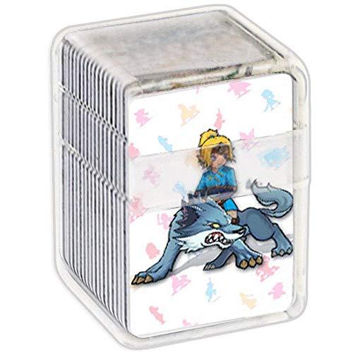 NFC Etikett Spielkarten Tag Game Cards für the Legend of Zelda Breath of the Wild, 22pcs Botw Karten Cards mit Kristall Hülle kompatibel mit Nintendo Switch/Wii U