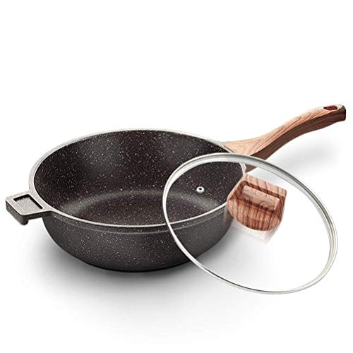 Lqfcjnb Sartén de Aluminio Profesional de Fry Pans Libres de PFOA y Metales Pesados, Utensilios de Cocina totales antiadherentes, Plancha de calificación Profesional (Size : 28cm)