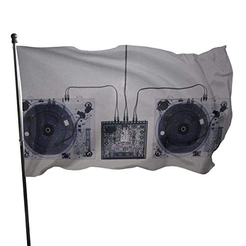 LL-Shop Garden Flag Patry Flag Outdoor Flag Garden Flag Outdoor Yard Flag Wall Lawn Banner Home Flag Technology Turntables Xray