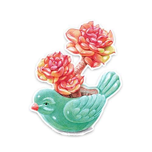 GQQ auto sticker 11,9 * 15Cm heerlijk creatieve vogel bloempot Decor auto Sticker accessoires gepersonaliseerd grafisch A