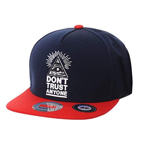 WITHMOONS Gorras de béisbol Gorra de Trucker Sombrero de Snapback Hat Illuminati Patch Hip Hop Baseball Cap AL2390 (Navy)