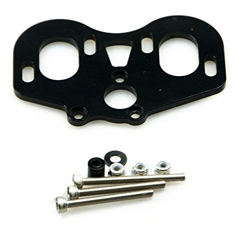 Que-T A Set of Metal Dual Motor Mount for 1/10 Axial SCX10 RC Model Crawler Car (Black)