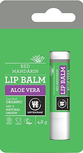 Bálsamo Labial Orgânico Aloe Vera Hidratante Sabor Laranja 4, 8G, Urtekram