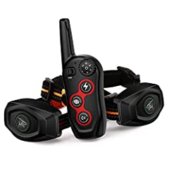The New Dobe remote training & Anti-bark collar combined remote control training and anti bark function, premium quality materials and advanced design that assures control on long distances from 1000ft to 1500ft, The ultra-durable and waterproof coll...