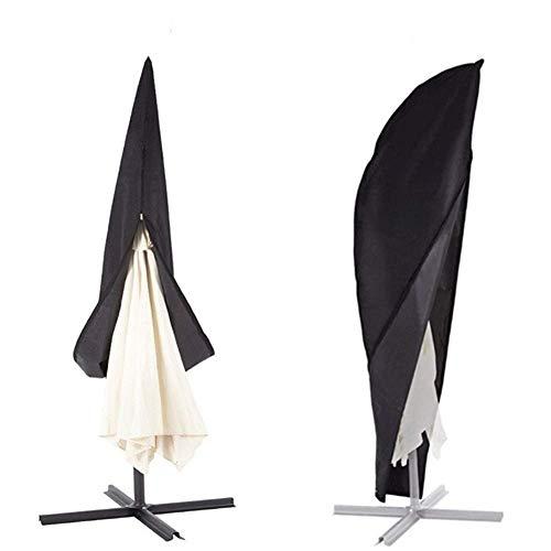 SUNYUE Cover Housse pour Parapluie Extra-Large à Suspension Invisible avec Fermeture éclair Invisible, Style trapézoïdal, revêtement en Argent
