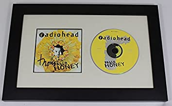 Radiohead Pablo Honey Thom Yorke Authentic Signed Autographed Music Cd Cover Compact Disc Framed Display Loa
