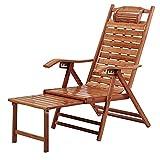 LLMY liegestuhl Balkon Freizeitliege, Holzsessel, Verstellbare Sonnenliege, Verbreitete Armlehnen, für Balkonterrasse(Color:Style 2)