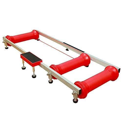 MOMOJA Rodillos de bicicleta plegables para interiores y exteriores, plataforma para montar en interiores, marco de fitness, soporte de entrenamiento para deportes de interior (rojo)