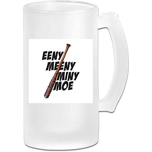 Tazza di birra Stein in vetro glassato 16oz stampata - Lucille Eeny Meeny Miny Moe - Tazza grafica