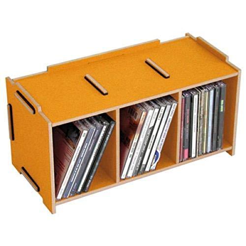 Werkhaus Medienbox CD - ''Goldgelb'' | Aufbewahrungsbox | CD Aufbewahrung | Ordnungssystem | Box für CDs | Geburtstagsgeschenk | Aufbewahrungsboxen Ostergeschenk