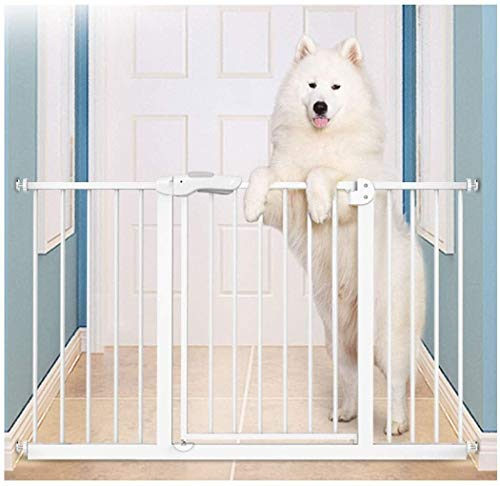 Lanrui Guardrail Garden Door Stairs Fence Pressure Fit Safety Metal Gate Stands 100cm tall The width can be selected from 82 to 190cm Pet Gate baby gate with Extensions Available