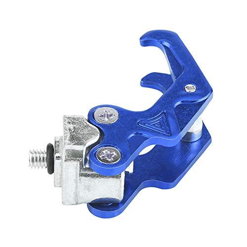 オートバイ コンビニフック 汎用 キャリー ヘルメット 小物置く アルミ 耐久性(ブルー)