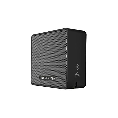 Energy Sistem Music Box 1+ - Altavoz Portátil, Bluetooth v 4.1, 5 W, microSD MP3, Radio FM, Audio-In, Color Negro (Slate)