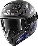 Shark Casco de moto VANCORE 2 KANHJI MAT AKB, Anthracite/Azul, XL