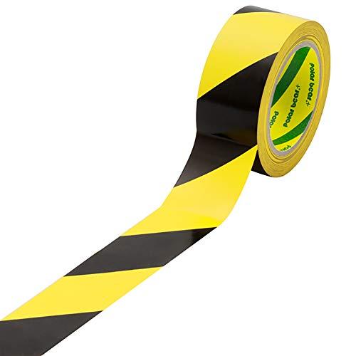 Z·Bling Warnband Antirutsch Klebeband Schwarz Gelb Wasserdicht Selbstklebendes Band Gefahr Warnung Absperrband Markierungs Warnklebeband fur Treppen Schritte 48mm x 22.9m