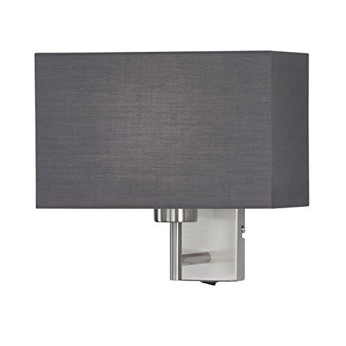 Honsel Kempten - Lámpara de pared, color níquel mate y gris