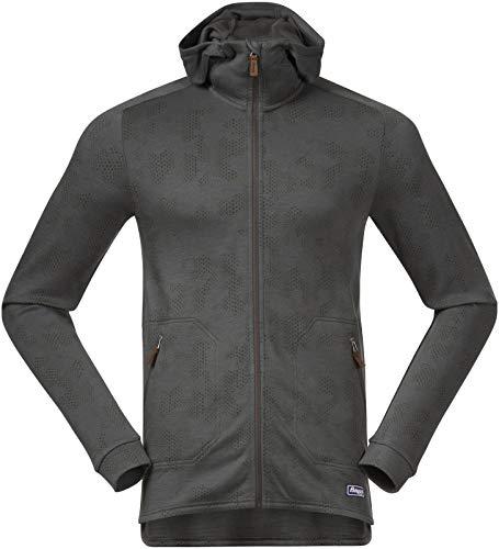 Bergans Tuva Light Wool Hood M Jacket Grün, Herren Merino Isolationsjacke, Größe S - Farbe Green Mud Camo