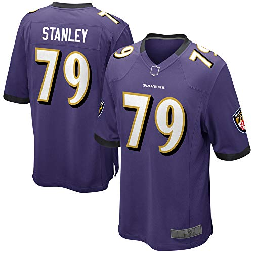 Herren T-Shirt American Football Uniform Baltimore Ravens #79 Stanley Football Trikots Gruby Tee Shirts Gr. L, violett
