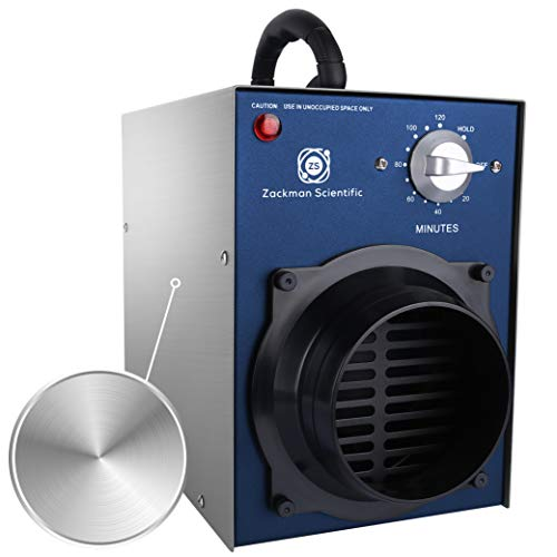 Zackman Scientific Odor Removal Ozone Generator with Air Duct Connector, 10,000 mg/h Ozone Output, 2 Hour Timer