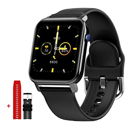 Evermotor Smart Watch de 1,4 pulgadas, monitor de ritmo cardíaco con 31 modos deportivos IP68, resistente al agua, reloj Bluetooth para hombres y mujeres, color negro