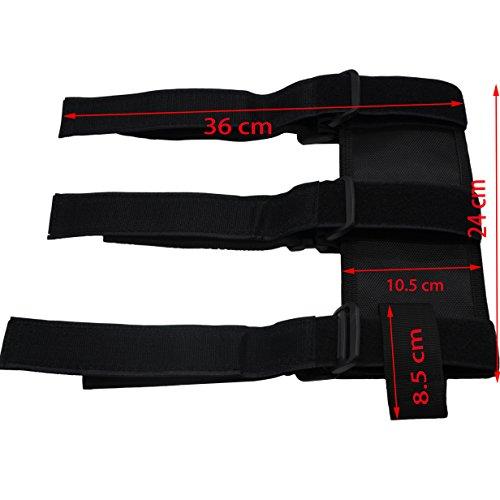 MAYMII Black Adjustable Roll Bar Fire Extinguisher Holder For Jeep JK CJ TJ YJ