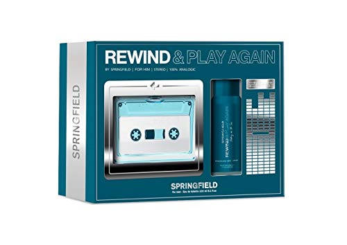 SPRINGFIELD REWIND AND PLAY AGAIN FOR HIM EDT 100 ML + DEO SPRAY 100 ML SET REGALO