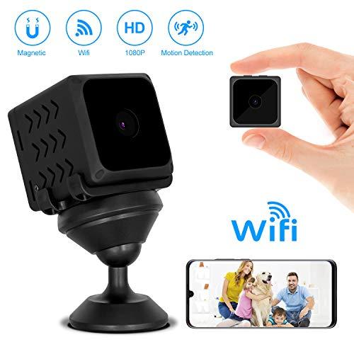 ODLICNO Mini cámara de espia WiFi Inalámbrica Cámara Oculta HD 1080P Mini Cámara Secreta Cámara de…