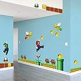 Gemeng Super Mario Sticker Kinderzimmer Schlafzimmer Dekor Wandaufkleber