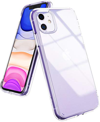Ringke Fusion Compatible with iPhone 11 Case, Tough Impact Alleviation Technology Raised Bezel Shield Case Cover - Clear