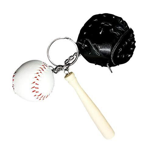 STOBOK Key Chain Dekorative Baseball Sport Theme Softball Schlüsselanhänger Schlüsselanhänger Anhänger Handtasche Dekoration Urlaub Geschenk Schwarz