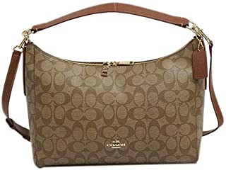Coach f34899 IMBDX East West Celeste Convertible Hobo Signature Shoulder Handbag- khaki/Saddle