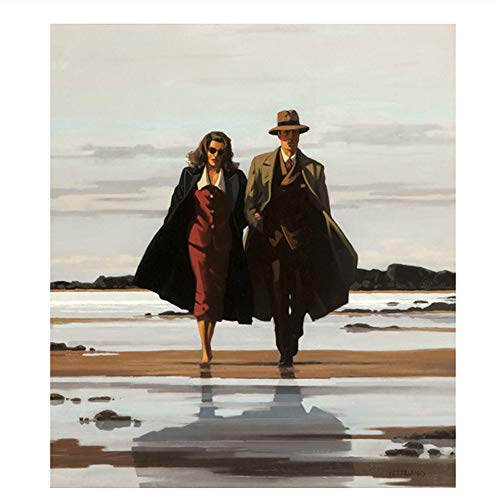Suuyar 5STARS Jack Vettriano Portrait Oil Painting Printed Canvas Poster and Print Wall Pictures Artwork Home Decor Cuadros for Living Room-60x90cm No Frame