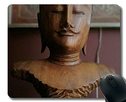 Yanteng Alfombrilla Antideslizante, Mosaico de Cultura Oriental con Almohadillas de ratón Buda