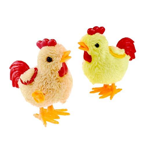 YANLE 5Pcs / 10Pcs 8Cm Kinderaufziehspielzeug Hüpfendes Springendes Hühnerplüschtier Uhrwerkkükengeschenk (Farbe Zufällig)