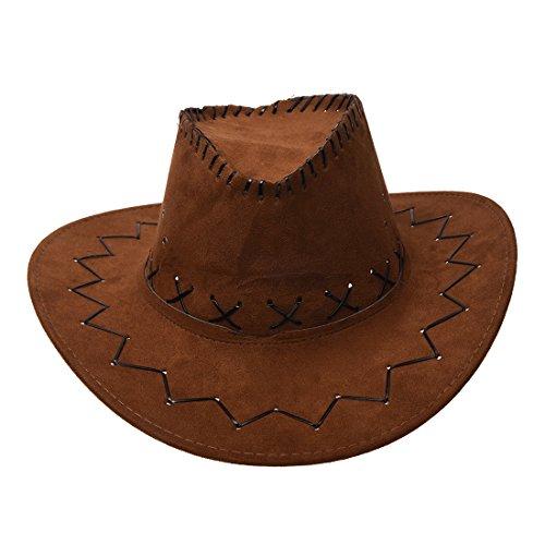 Sombrero de vaquero unisex, diseño retro, de Toogoo, color café