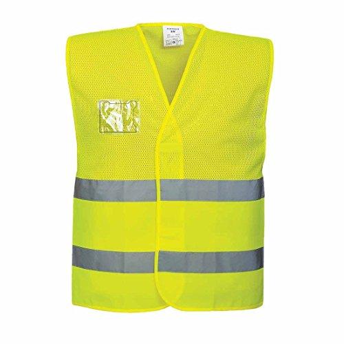 Portwest Sicherheitsweste aus Mesh-Gewebe, normale Passform, hohe Sichtbarkeit, 4X-Large/5X-Large, gelb, 1