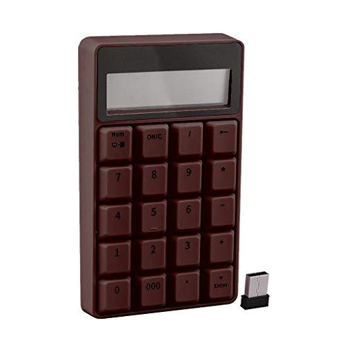 Yoking Mini-Tastatur, digital, Farbe kabellos, 2,4 G, mit Taschenrechner, für Windows XP/Win7/Win8/Win10