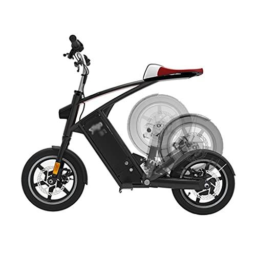 ZXQZ Bicicleta Electrica, Bicicleta de Ciudad Plegable con Luces LED Y A Prueba de Agua IPX5, Bicicleta Eléctrica de 36V 10Ah, Capacidad de Carga 120 Kg