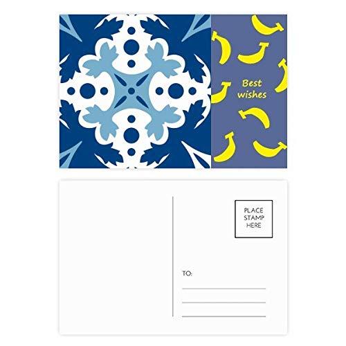 Talavera Deko-Blumen-Ilustrations-Bananen-Postkarten-Set mit Danksagungskarte, 20 Stück