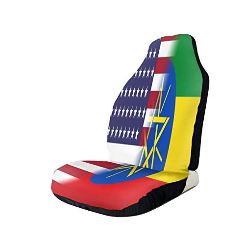 %27 OFF! Ethiopia America Flag Car Seat Covers for Vehicles Universal 3D Printing Car Seat Covers Fr...