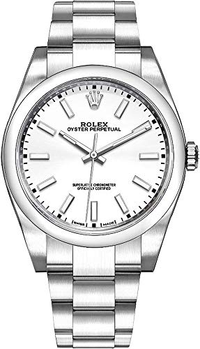 Fashion Shopping Men's Rolex Oyster Perpetual 39 White Dial Watch – Ref. 114300