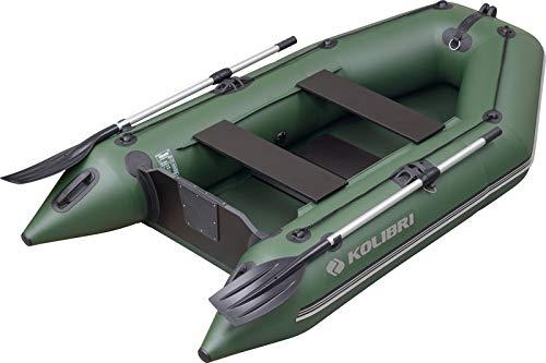 kolibri KM-260 Motorboot - Schlauchboot Ruderboot Angelboot Beiboot - inkl. Heckspiegel, Transporttasche, Fuß-Luftpumpe & Reparatur-Set