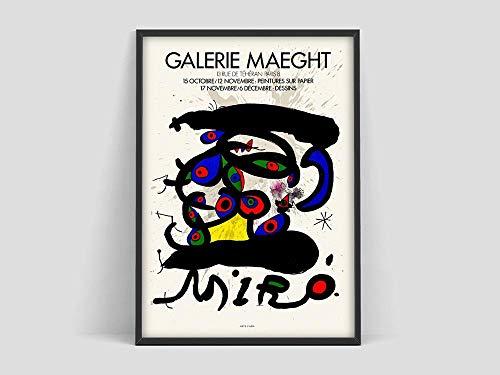 Póster de Joan Miró, impresión de Mourlot Paris, impresión de Joan Miró, impresión de Joan Miro, impresión de arte, póster de arte de pared, lienzo sin marco V 20x30cm
