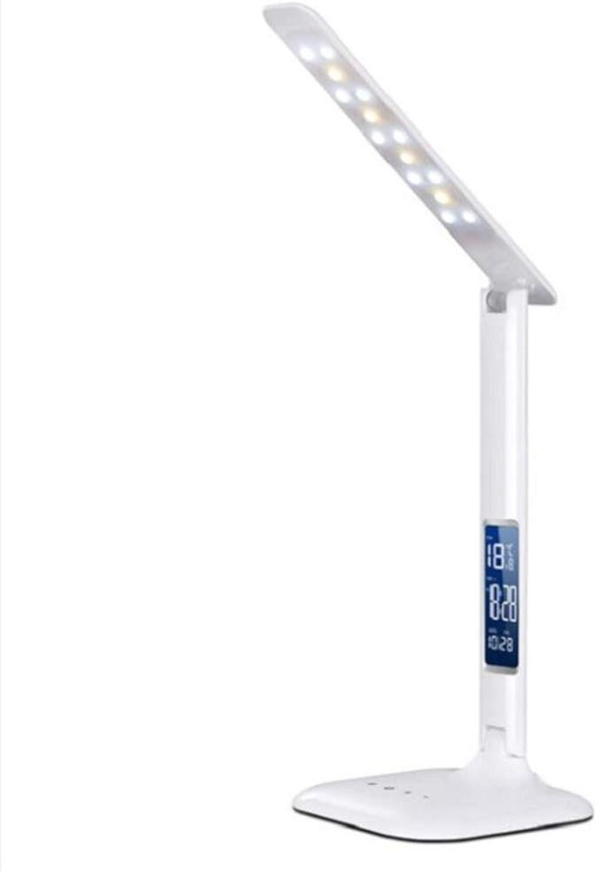 YFQH Led-klapptischlampe, Tragbare Schreibtischlampe Mit Dimmbarer Touch-Steuerung Und Micro-USB-ladeanschluss-wei