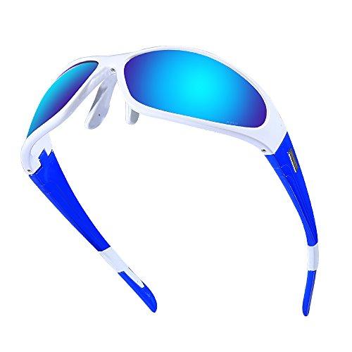 JIEPOLLY Gafas de sol deportivas para hombre y mujer, polarizadas, con protección UV, para ciclismo, conducción, esquí, pesca, correr, senderismo, golf, voleibol de playa y senderismo