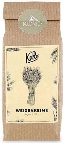 KoRo - Bio Weizenkeime 250 g - Proteinpulver mit hohem Eiweißgehalt, ohne Zusätze und von Natur aus fettarm