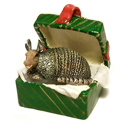 Conversation Concepts Armadillo Gift Box Christmas Ornament - DELIGHTFUL!